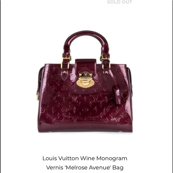 6df4d7bfa77 Louis Vuitton Handbags - Louis Vuitton Monogram Vernis Melrose Ave Bag